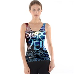 Pierce The Veil Quote Galaxy Nebula Tank Top by Onesevenart