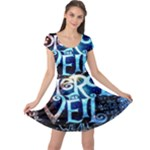 Pierce The Veil Quote Galaxy Nebula Cap Sleeve Dresses