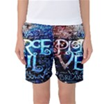 Pierce The Veil Quote Galaxy Nebula Women s Basketball Shorts