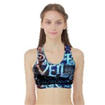 Pierce The Veil Quote Galaxy Nebula Sports Bra with Border