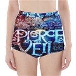 Pierce The Veil Quote Galaxy Nebula High-Waisted Bikini Bottoms