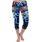 Pierce The Veil Quote Galaxy Nebula Capri Yoga Leggings