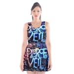 Pierce The Veil Quote Galaxy Nebula Scoop Neck Skater Dress