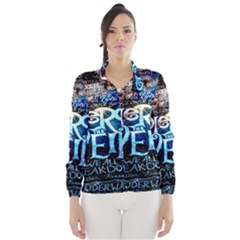 Pierce The Veil Quote Galaxy Nebula Wind Breaker (women) by Onesevenart