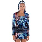 Pierce The Veil Quote Galaxy Nebula Women s Long Sleeve Hooded T-shirt