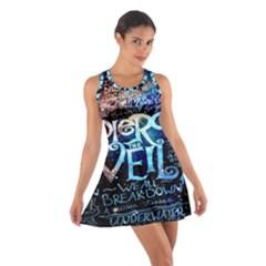 Pierce The Veil Quote Galaxy Nebula Cotton Racerback Dress by Onesevenart