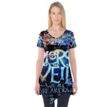 Pierce The Veil Quote Galaxy Nebula Short Sleeve Tunic