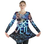 Pierce The Veil Quote Galaxy Nebula Long Sleeve Tunic