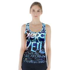 Pierce The Veil Quote Galaxy Nebula Racer Back Sports Top by Onesevenart