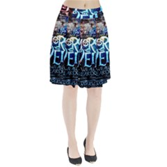 Pierce The Veil Quote Galaxy Nebula Pleated Skirt by Onesevenart