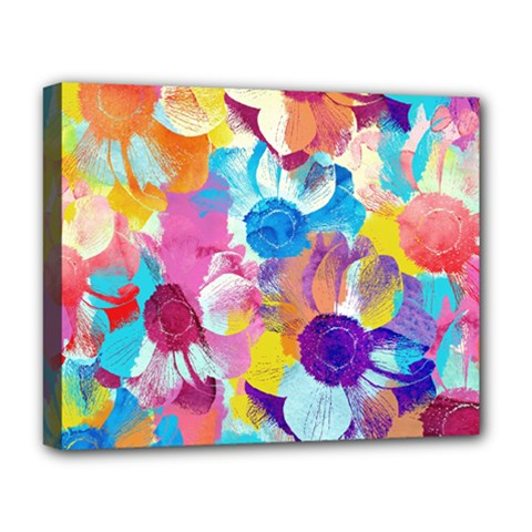 Anemones Deluxe Canvas 20  X 16   by DanaeStudio