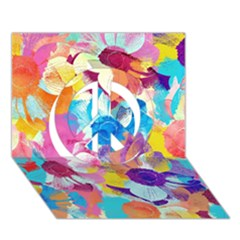 Anemones Peace Sign 3d Greeting Card (7x5) by DanaeStudio