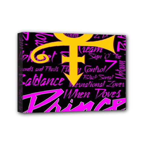 Prince Poster Mini Canvas 7  X 5  by Onesevenart