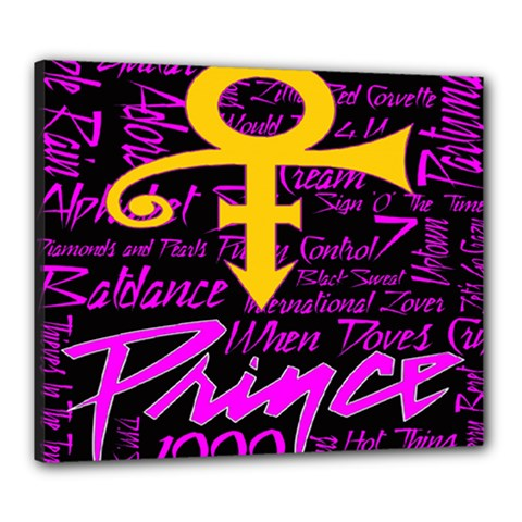 Prince Poster Canvas 24  X 20  by Onesevenart