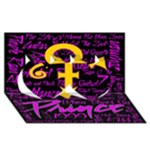 Prince Poster Twin Hearts 3D Greeting Card (8x4)