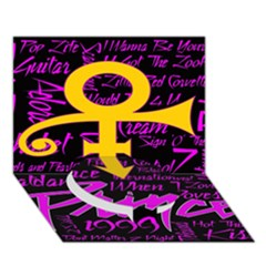 Prince Poster Circle Bottom 3d Greeting Card (7x5) by Onesevenart