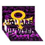 Prince Poster YOU ARE INVITED 3D Greeting Card (7x5)