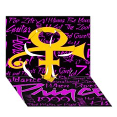 Prince Poster Clover 3d Greeting Card (7x5) by Onesevenart