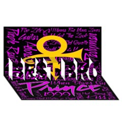 Prince Poster Best Bro 3d Greeting Card (8x4) by Onesevenart