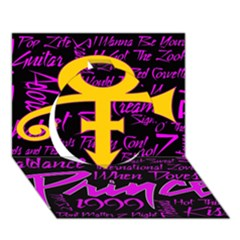 Prince Poster Circle 3d Greeting Card (7x5) by Onesevenart