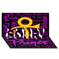 Prince Poster Sorry 3d Greeting Card (8x4) by Onesevenart