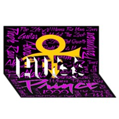Prince Poster Hugs 3d Greeting Card (8x4) by Onesevenart