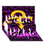 Prince Poster WORK HARD 3D Greeting Card (7x5)