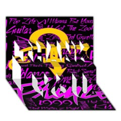 Prince Poster Thank You 3d Greeting Card (7x5) by Onesevenart