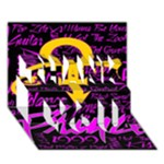 Prince Poster THANK YOU 3D Greeting Card (7x5)
