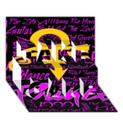 Prince Poster Take Care 3d Greeting Card (7x5) by Onesevenart