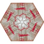 Magic forest in red and white Mini Folding Umbrellas