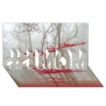 Magic forest in red and white #1 MOM 3D Greeting Cards (8x4)