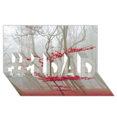 Magic Forest In Red And White #1 Dad 3d Greeting Card (8x4) by wsfcow