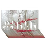 Magic forest in red and white #1 DAD 3D Greeting Card (8x4)