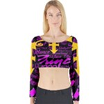 Prince Poster Long Sleeve Crop Top