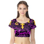 Prince Poster Short Sleeve Crop Top (Tight Fit)