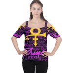 Prince Poster Women s Cutout Shoulder Tee