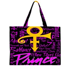 Prince Poster Large Tote Bag by Onesevenart