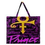 Prince Poster Zipper Large Tote Bag