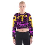 Prince Poster Women s Cropped Sweatshirt