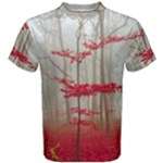 Magic forest in red and white Men s Cotton Tee