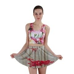 Magic Forest In Red And White Mini Skirt by wsfcow