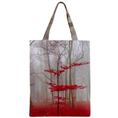 Magic Forest In Red And White Zipper Classic Tote Bag by wsfcow