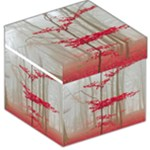 Magic Forest In Red And White Storage Stool 12