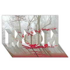 Magic Forest In Red And White Mom 3d Greeting Card (8x4)