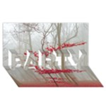 Magic Forest In Red And White PARTY 3D Greeting Card (8x4)