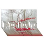 Magic Forest In Red And White BELIEVE 3D Greeting Card (8x4)
