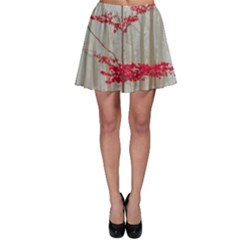 Magic Forest In Red And White Skater Skirt by wsfcow