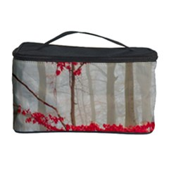 Magic Forest In Red And White Cosmetic Storage Case by wsfcow