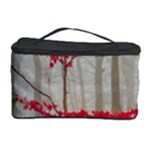 Magic Forest In Red And White Cosmetic Storage Case